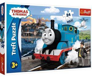 Trefl Puzzle Maxi 24 dílků - Mašinka Tomáš - veselý den   14317