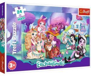 Trefl Puzzle MAXI 24 dílků - Veselý svět  Enchantimals 14315