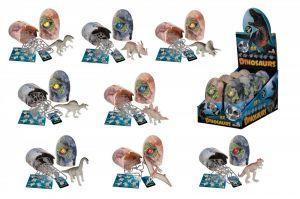 Simba - Figurka dinosaura ve vajíčku - svítící ve tmě - Velociraptror