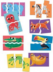Clementoni puzzle 8 x 2-4 dílků Zvířátka  50074