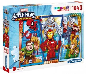 Clementoni Puzzle MAXI  104 dílků - Super Hero 23746
