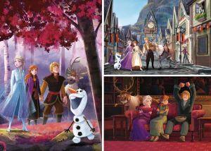 Dětské puzzle Clementoni  - 3 x 48 dílků  - Frozen II - 25255