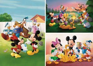 Dětské puzzle Clementoni  - 3 x 48 dílků  - Mickey Mouse - 25256