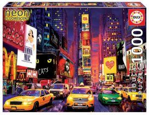 EDUCA Puzzle 1000 dílků  svítící - Times Square New York  18499
