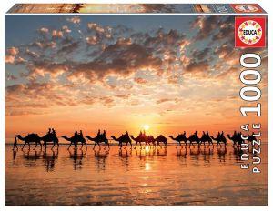 EDUCA Puzzle 1000 dílků -  Západ slunce v Cable Beach Austrálie  18492