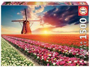 EDUCA Puzzle 1500 dílků  Pole tulipánů  18465