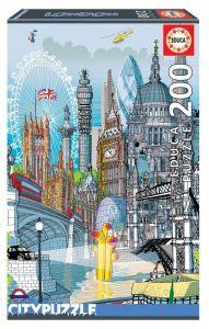 EDUCA puzzle 200 dílků - Londýn 18470