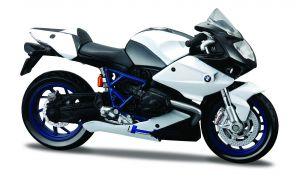 Maisto  motorka na stojánku - BMW HP2 Sport  1:18  černo-bílá