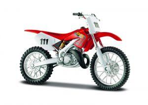 Maisto  motorka na stojánku -  Honda CR 250R  1:18  červená