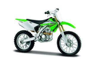 Maisto  motorka na stojánku -  Kawasaki KX 250F   1:18  zelená