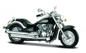 Maisto  motorka na stojánku -  Kawasaki Vulcan    1:18  zelená