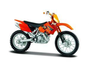 Maisto  motorka na stojánku -  KTM 525 SX  1:18  oranžová