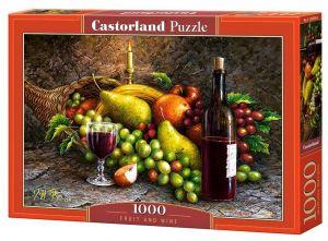 Puzzle Castorland  1000 dílků - Víno a ovoce   104604