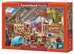 Puzzle Castorland 500 dílků - Přeplněná půda  53407