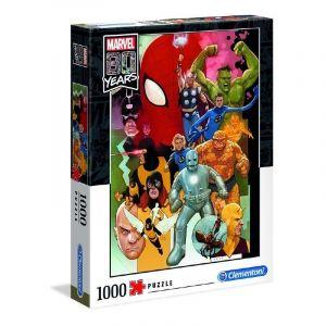 Puzzle Clementoni 1000 dílků - 80 let Marvelu 39534