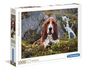 Puzzle Clementoni 1000 dílků - Hnědý pes    39511