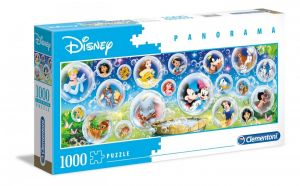Puzzle Clementoni 1000 dílků  panorama - Disney classic   39515
