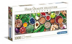 Puzzle Clementoni 1000 dílků  panorama -  Zdravé potraviny 39518