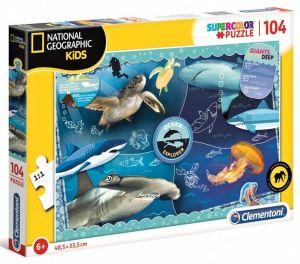 Puzzle Clementoni - 104 dílků  - National Geographic - Kids Ocean  27143