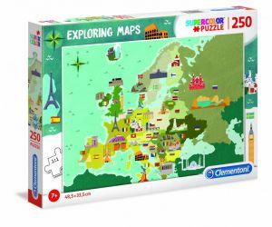 Puzzle Clementoni 250 dílků  - mapa evropy  29062