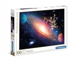 Puzzle Clementoni 500 dílků  - Mezinárodní vesmírná stanice   35075