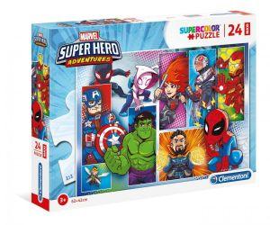 Puzzle Clementoni  MAXI  - 24 dílků  - Marvel superhrdinové  24208