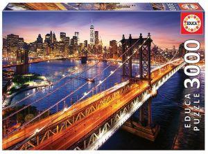 Puzzle EDUCA 3000 dílků - Manhattan  18508