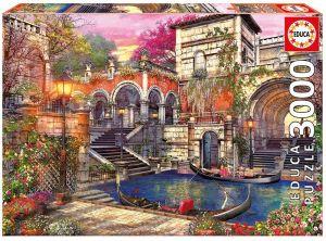 Puzzle EDUCA 3000 dílků - Romantické Benátky 16320