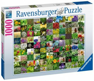 puzzle Ravensburger 1000 dílků - 99 rostlin  159918