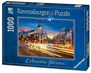 Puzzle Ravensburger 1000 dílků - Gran Via  Madrid  198180