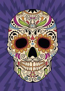 puzzle Ravensburger 1000 dílků - Mexická lebka  196869
