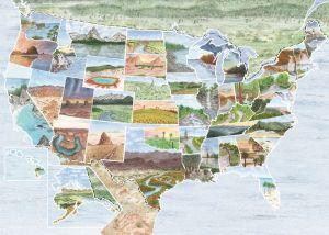 puzzle Ravensburger 1000 dílků - Od oceánu k oceánu Amerika    164530