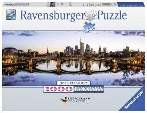 Puzzle Ravensburger 1000 dílků  panorama - Frankfurt   151622