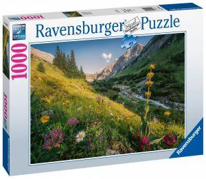 puzzle Ravensburger 1000 dílků - Rajský výhled na hory 159963
