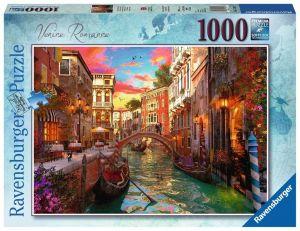 Puzzle Ravensburger 1000 dílků - Romantické Benátky  152629