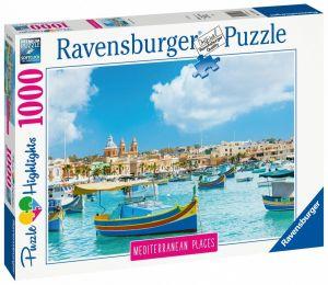 puzzle Ravensburger 1000 dílků - Středomořská Malta 149780