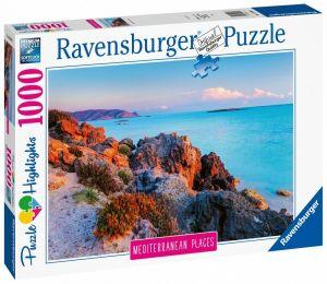 puzzle Ravensburger 1000 dílků - Středomořské Řecko  149803