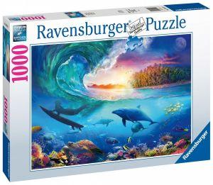 puzzle Ravensburger 1000 dílků - Surfař chytá vlnu  164516