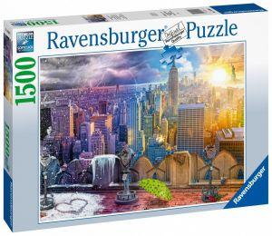 puzzle Ravensburger 1500 dílků  Doby roku v New Yorku 160082