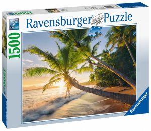 puzzle Ravensburger 1500 dílků  Karibská pláž 150151