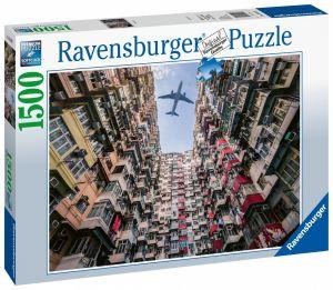 puzzle Ravensburger 1500 dílků  Letadlo nad Hongkongem 150137