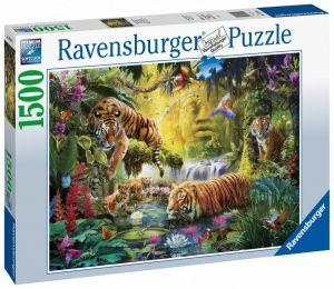 puzzle Ravensburger 1500 dílků  Tygři nad řekou 160051