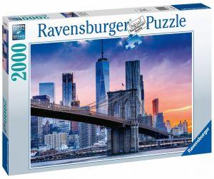 puzzle Ravensburger  2000 dílků  Manhattan a Brooklyn  160112