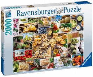 puzzle Ravensburger  2000 dílků  Potraviny - koláž  150168