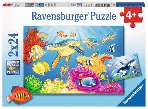 Puzzle Ravensburger  2x24 dílků  Podvodní šílenství  078158