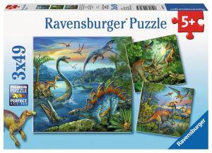 Puzzle Ravensburger  3 x 49 dílků  - Dinosauři  093175