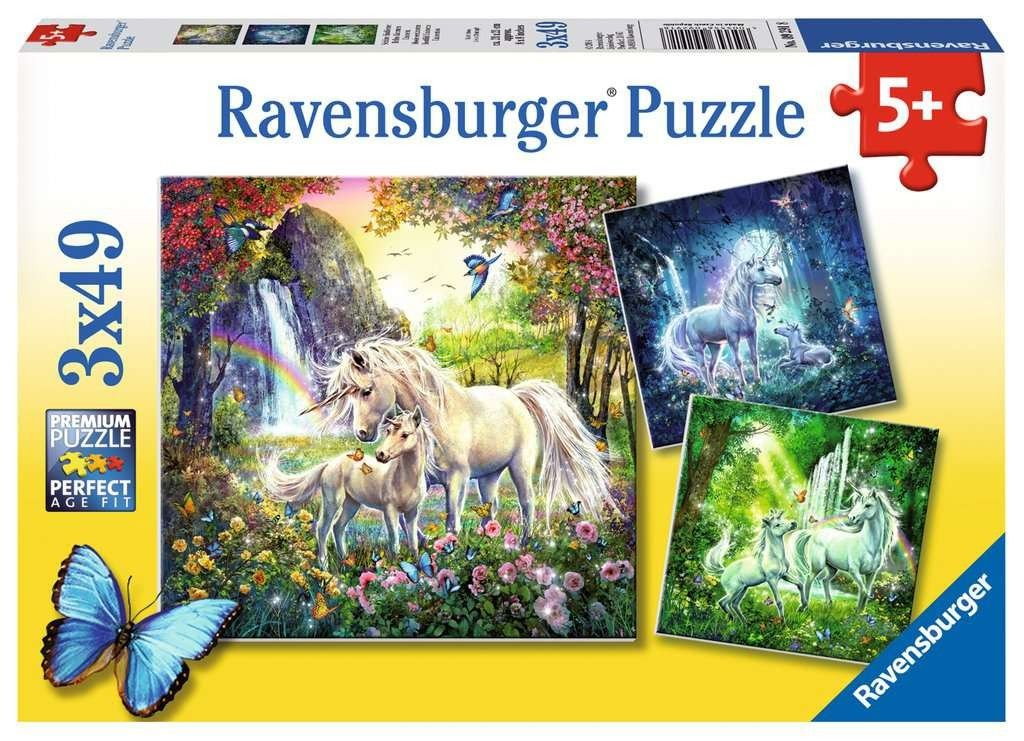 Puzzle Ravensburger 3 x 49 dílků - Jednorožci 092918