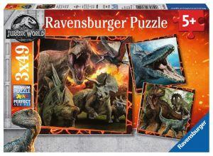 Puzzle Ravensburger  3 x 49 dílků  - Jurassic World 080540