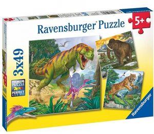 Puzzle Ravensburger  3 x 49 dílků  - Vládcové pradávné historie  093588
