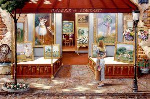 puzzle Ravensburger  3000 dílků -  Vitrína galerií 164660